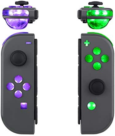eXtremeRate 7 Colors 9 Modes Button Control NS Joycon DFS LED Kit for Nintendo Switch, Multi-Colors Luminated ABXY Trigger Face Buttons for Nintendo Switch Joy-Con Controller - JoyCon NOT Included