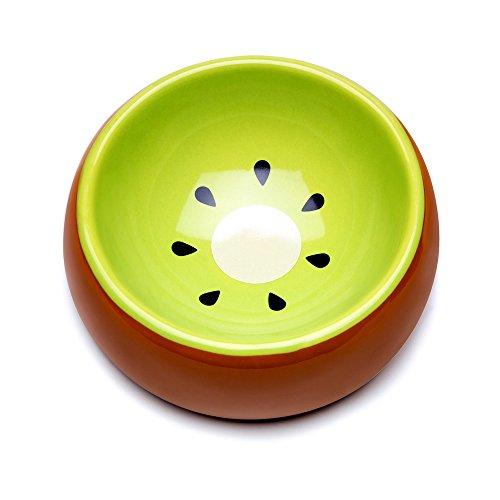 Picture of Mkono No-Tip Ceramic Rabbit Food Bowl Feeder for Guinea Pig Hamster Chinchilla, Kiwi