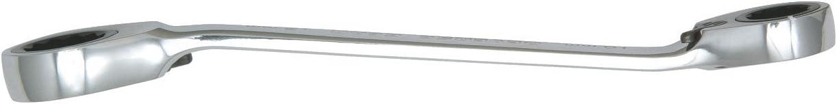 Finition Satin/ée En chrome Vanadium Cl/é polygonale /à cliquet r/éversible Gamme  GEARplus/® Ks Tools 503.4577 16 x 18 mm