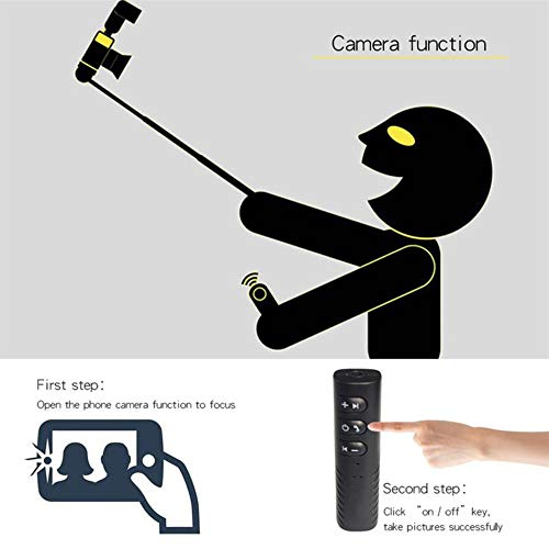 3.5mm Jack Veh/ículo Receptor Bluetooth Adaptador de M/úsica de Audio Inal/ámbrico de Coche para Auriculares Altavoces Kits de Coche One Drag Two Function