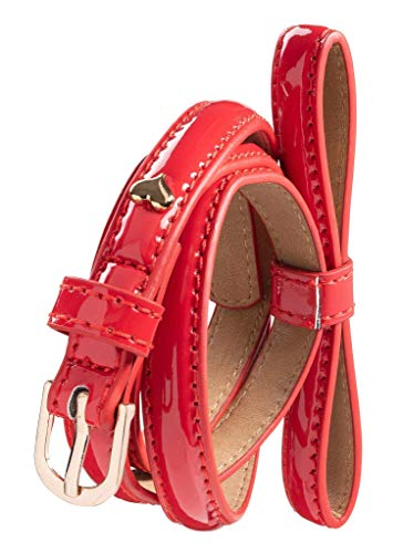 - Silky Toes Women's Patent Skinny Bow Belt. (RED, Waist 26-30 (S))