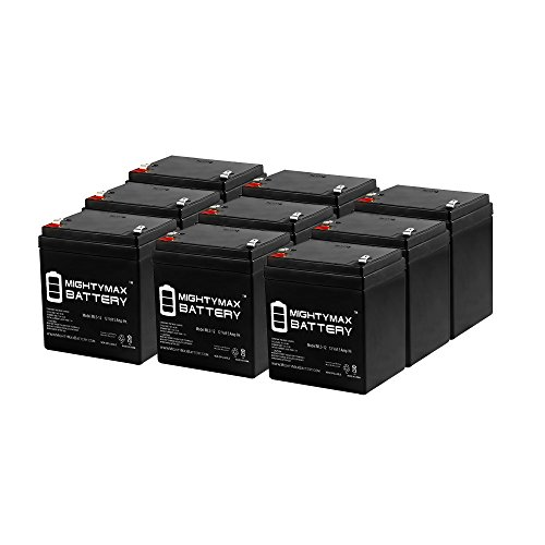 ML5-12 - 12V 5AH Replaces Gell Cell 12V 4.5AH Battery - 9 Pack - Mighty Max Battery brand product