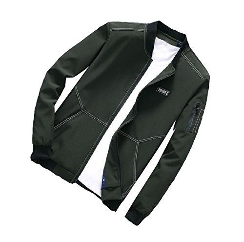 Cappotto Militare Casuale Più Aicessess Maschile Formato Rilassato Giacca Comodità fit Outwear Verde tngnav1wq
