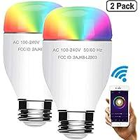 2-Pack Jadada 60W Equivalent RGBW Cole Smart WiFi Light Bulbs (No Hub Required)