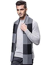 ULSTAR Scarf for Men, Soft Warm Merino Wool Men Scarf for Autumn Winter Spring