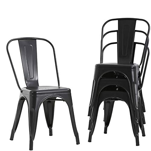Metal Dining Chairs Set