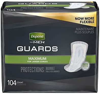Depend Incontinence Guards for Men, 2 Packs of 52, 104 Total Count