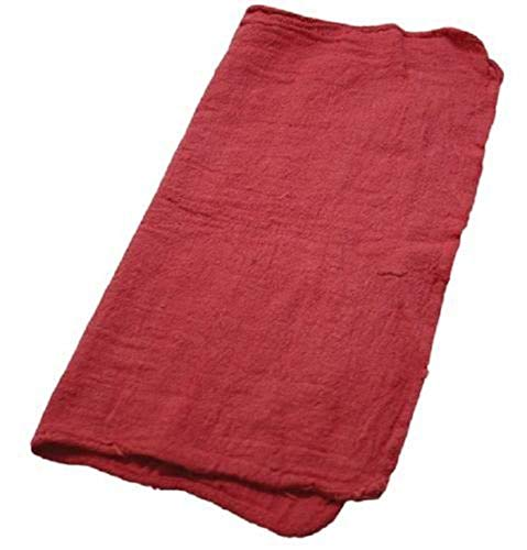New red Large 14x14 Towel Industrial Shop Rags/Cleaning Towels 10 pc by E_GGW (Image #1)