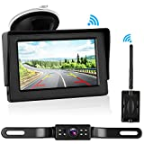 """iStrong Digital Wireless Backup Camera System Kit for Car/Truck/Van/Pickup/Camper 4.3"""" Monitor Rear/Front View Reverse/Continuous Use Guide Lines ON/OFF over 600ft Transmission For Sale"""