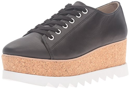 Steve Madden Womens korrie Fashion Sneaker Black Leather