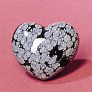Heart Shaped Snowflake Obsidian