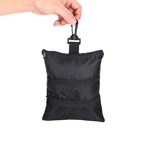 GOTOTOP Multi-Pocket Golf Bag Golf Ball Black Zipper Handbag Bag Useful Golf Ball Handbag Golf Accessories Bag(19 15.5cm / 7.5 6.1inch) by GOTOTOP (Image #4)