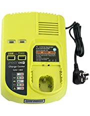Generic Replace for Ryobi 12V-18V Battery Charger NiCad NiMh & Li-ion One+ Battery P117 Dual Chemistry IntelliPort P102 P105 P107 P113 AU Plug