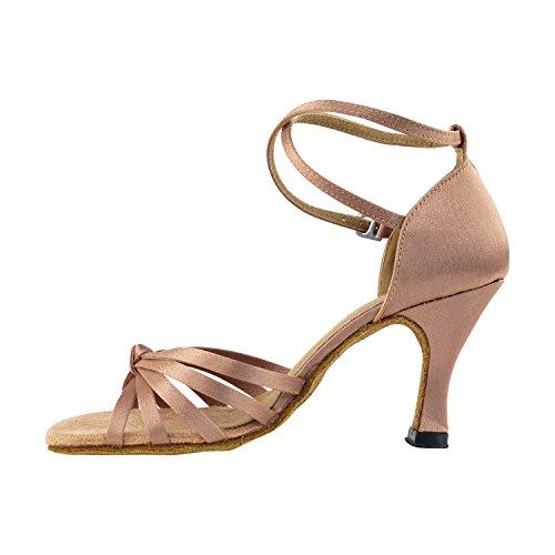 """Gold Taube Schuhe 50 Shades Of Tan Tanzkleid Schuhe Collection-III, Komfort Abend Hochzeit Pumps: Ballroom Schuhe für Latein, Tango, Salsa, Swing, Kunst von Party Party (2,5 """", 3"""", 3,5 """"Heels) 6005 Brauner Satin"""