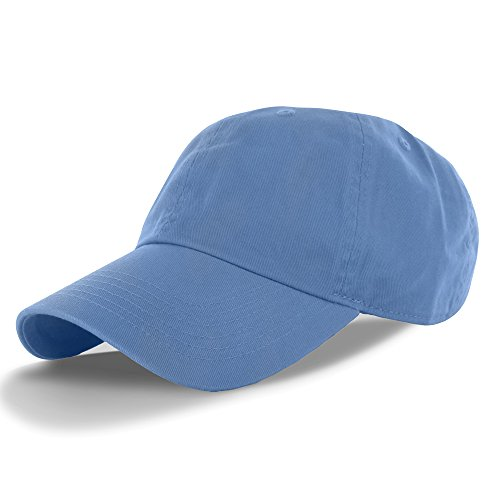 - Plain 100% Cotton Hat Men Women One Size Baseball Cap (30+ Colors) Sky Blue,One Size