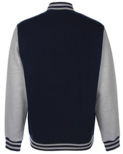 Grey heather Varsity Navy Unisexe Jacket Fdm w1qSvxPn