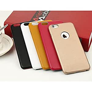 QJM The Official Original with A Thin Leather Texture Of Leather Back Cover Case for iPhone 6 (Assorted Color) , Orange