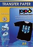 A4 Inkjet Iron On Transfers Paper / T Shirt Transfers - Dark T Shirt x 20 Sheets