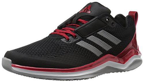 adidas Performance Men's Speed 3.0 Cross-Trainer-Shoes, Core Black, Iron Met, Power Red, 13.5 M US (Adidas Cross Trainer)