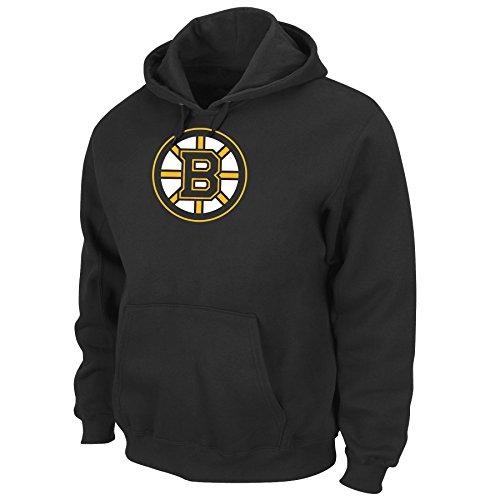 Fleece Boston Bruins Pullover - NHL Men's Boston Bruins Heat Seal Long Sleeve Hooded Fleece Pullover (Black, Medium)