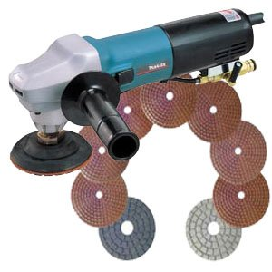 MAKITA 4 inch ELECT. WET POLISHER - COMPLETE KIT