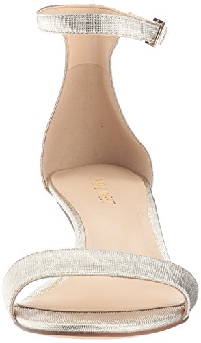 Nine West Women's Leisa Synthetic Heeled Sandal Gold (Platino) clearance 2014 new 7YstMUby5A