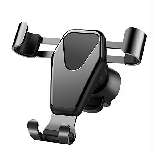 JAHMAI Car Phone Holder, Air Vent Gravity Sensing Auto Lock Metal Phone Mount Smart No Touch Design One hand Operate for iPhone X/8/7/6s/Plus/5S/4S, Samsung S8/S7/S6/Note and Other Smartphones