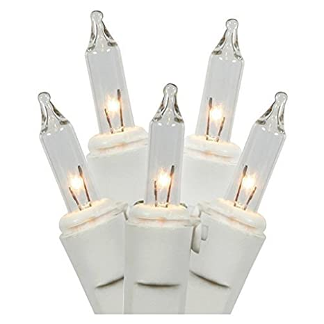 Clear Christmas Lights.Clear Christmas Lights White Wire 100 Count