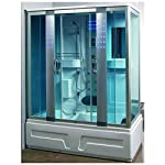 Box doccia idromassaggio cabina con vasca idromassaggio 160x85cm bagno turco cromoterapia |1 41E 3PnunoL. SS150