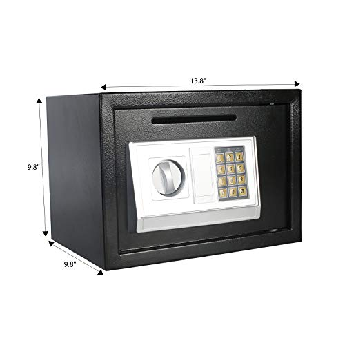 eclife Security Safe Box 0.5 Cubic Feet Electronic Digital Security Safe Box Black Keypad Lock Home Office Hotel Mini Cabinet Storage,Solid Steel Construction HM-F01 by eclife (Image #2)