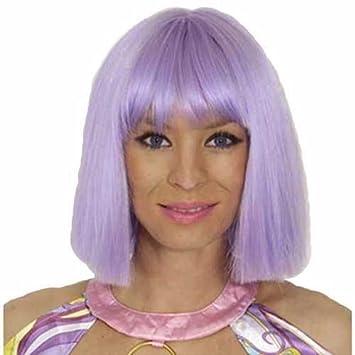 Peluca de color violeta Coco Kanekelon delicada