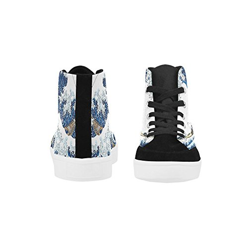 D-story Custom Wave Scarpe Alte Per Uomo Sneaker Scarpe Di Tela Moda