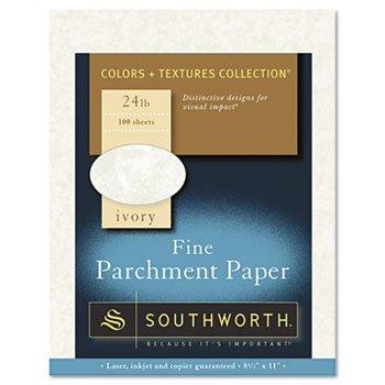 (Southworth® Colors + Textures Collection® Fine Parchment Paper PAPER,PARCHMENT24#IVOR,IY (Pack of8))