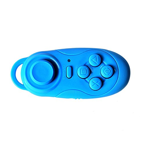 Mini Bluetooth Remote Controller ,Wireless Gamepad, Smart Phone Game Controller Self-control Supports Android 4.3 & IOS 7.0 Above System / PC Games for LG HTC Samsung Galaxy S6 Edge S7 (Blue-1)