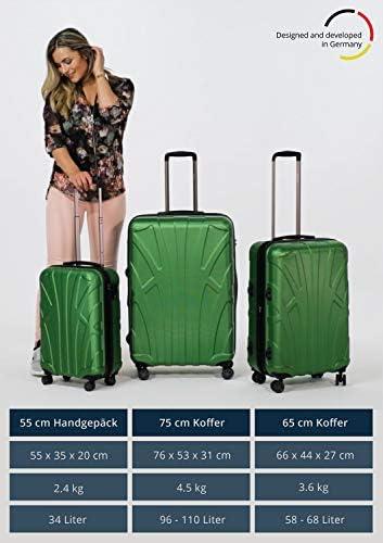 100/% ABS Mate 76 cm Suitline Aprox TSA 96 litros Maleta r/ígida Camuflaje Equipaje de Viaje
