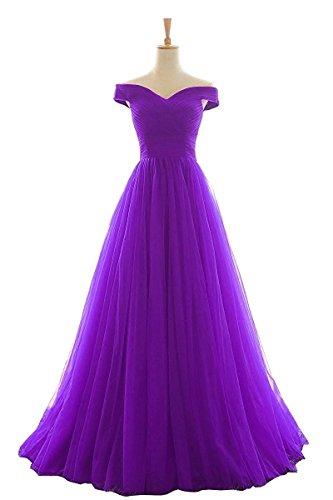 Lang Purple Damen Elegant Shoulder Abendkleider Brautjungfernkleider Line Ballkleider Bainjinbai Off A Cocktail fn1gqx1HP