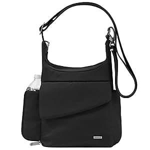 Travelon Classic Messenger Bag Black - in BLACK - Messenger Bags