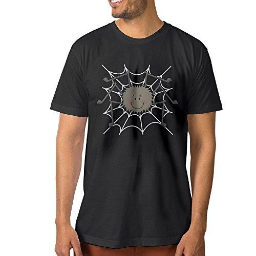 Spider Basic Modern Printed Cotton Textiles Short Sleeve Round Neck Men's T-shirts S-3XL