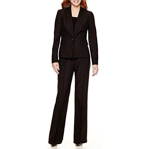 Le Suit Metallic Pinstripe Jacket and Pants Set