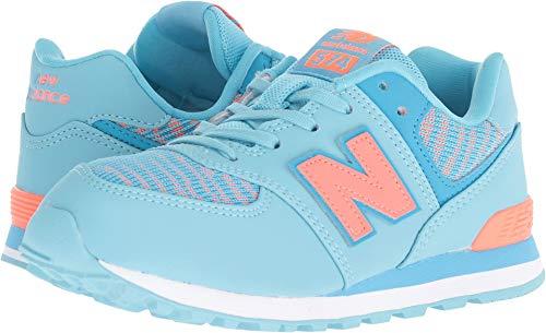 New Balance Girls' Iconic 574 Sneaker, Enamel Blue/Dragonfly, 2 W US Little Kid ()