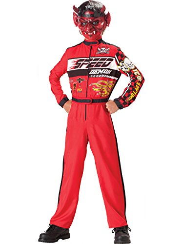 InCharacter Costumes, LLC Boys 8-20 Speed Demon Jumpsuit, Red, -