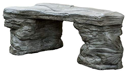 Cast Stone Petrified Rock Bench, Outdoor Garden Bench, Sandstone Patio Chair, 3 Piece Hand Sculpted Rustic Garden Bench, Outdoor Decor