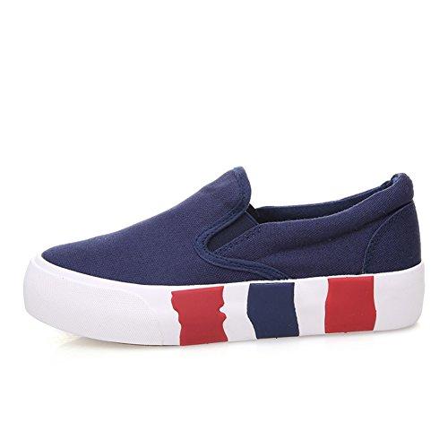 Zapatos de lona de color sólido en verano y el otoño/ zapatos casuales simple/Zapatos de suela gruesa/Mocasín/Zapatos del estudiante A