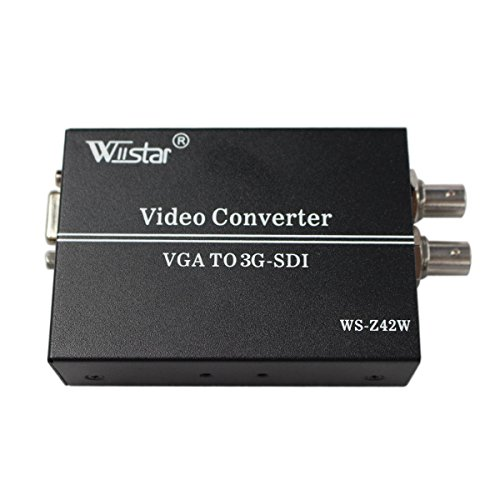 Vga Hd Sdi (Wiistar VGA+AUDIO TO HD SD 3G SDI Converter for PC SDI Monitor)