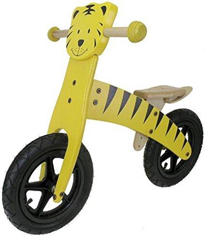BBF Holz Lernlaufrad MES Tiger 30,5 cm Luftreifen schwarz-gelb für Kinder
