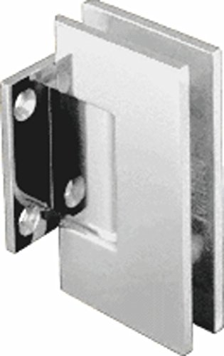 CRL Geneva Series Polished Nickel Wall Mount Short Back Plate Hinge (5 Degree Pre-Set ()