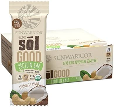 Sunwarrior Sol Good Bars Box (12 x 62g) Coconut Cashew