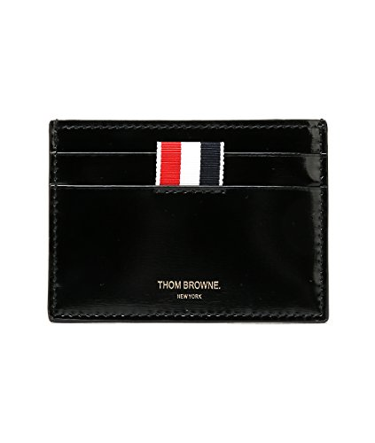 wiberlux-thom-browne-mens-real-leather-striped-panel-card-holder-one-size-black