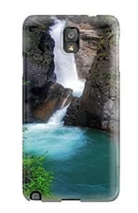 For QFsSnqy3206KPfjU Waterfall Earth Protective Case Cover Skin/galaxy Note 3 Case Cover
