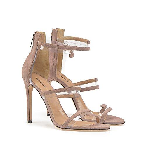 Plateforme Mode Haut Taille Femme Club Banquet De KJJDE De 4005 Grande Mariage Chaussures Transgenre Sandales Sexy 37 Soirée Talon De Fête TLJ Nude Ppf4wx